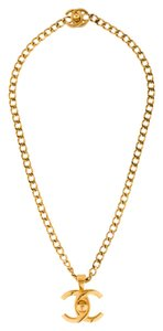 Chanel 100% AUTHENTIC CHANEL CC TURN-LOCK CHAIN NECKLACE