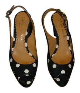 Bettye Muller Black and White Polka Dot Pumps