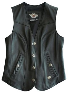 Harley Davidson Leather Fitted Vest