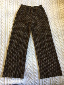 Missoni Vintage Knit Wide Leg Pants Brown, Copper, Golds