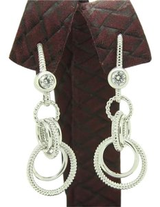 Judith Ripka Judith Ripka Diamond Sterling Silver Earrings