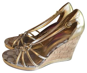 Coach Bronze Wedges