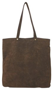 Tory Burch Brown Suede Tote