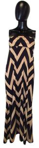 Black and Taupe Maxi Dress by Auditions