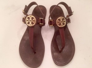 Tory Burch Camel Gold Brown Sandals