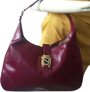 Gucci Jackie O Push Lock Closure Two-tone Hardware Early Larger Size Hobo Bag