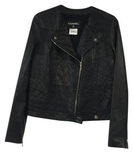 Chanel Leather Motorcycle Leather Jacket