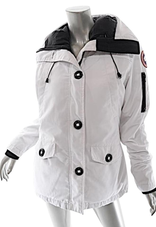 Canada Goose White  arctic Program  Down Hooded Coat Size 8 (M ... 8ced99fc7