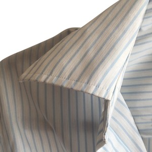 Charles Tyrwhitt Button Down Shirt White and ligt blue stripes