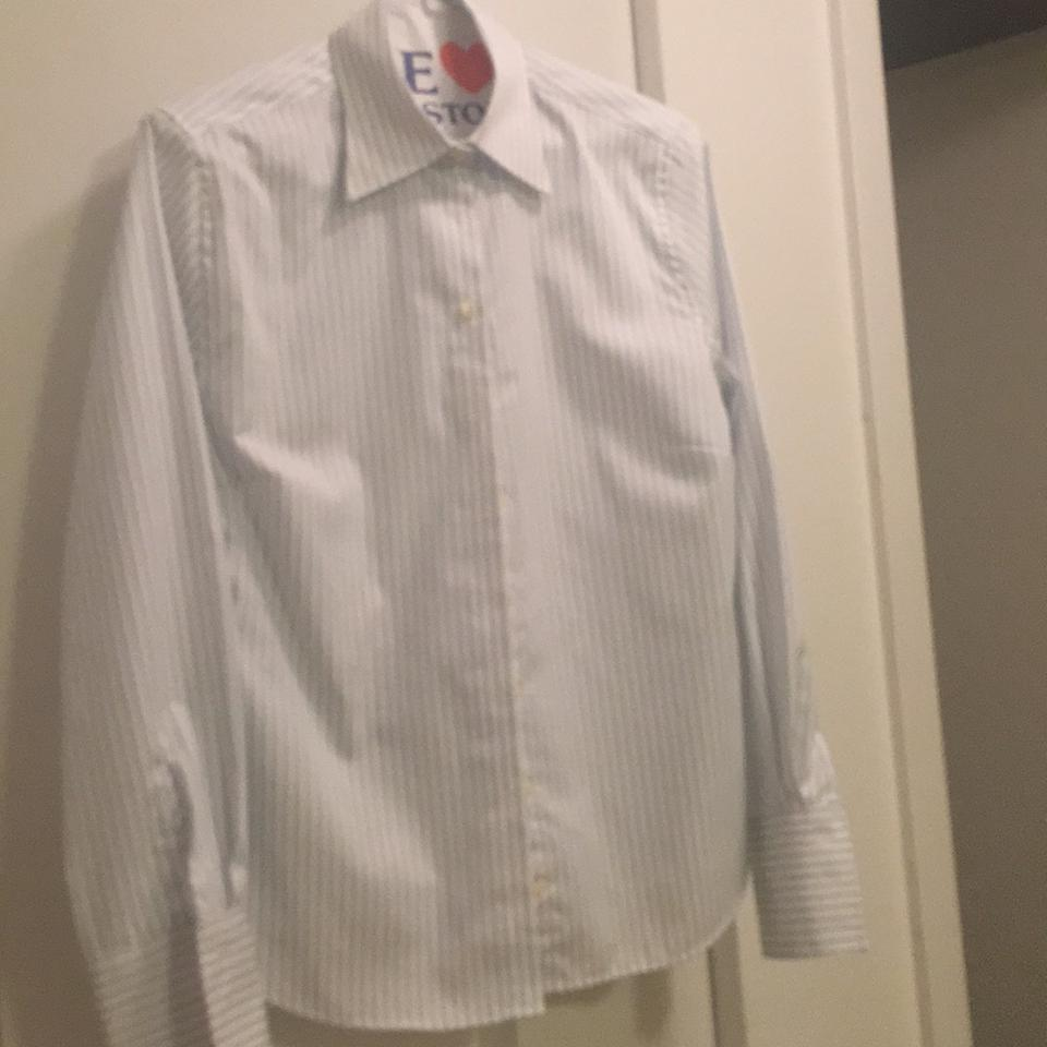 Charles tyrwhitt white and ligt blue stripes button down for Charles tyrwhitt shirts review