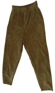 Vakko 100% Suede Trousers Trouser Pants Taupe