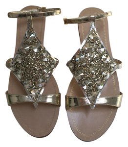 Miu Miu Studded Gold Sandals