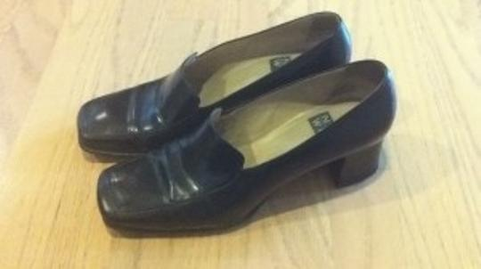 Nine West Loafers Work Casual Slideon Slide On School School Girl Heel 7.5 M Mediu Medium Menswear Look Flats Loafers Penny black Pumps