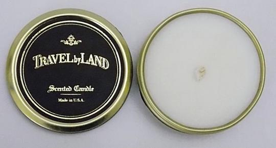 Off White Travel By Land Pine Needle Scented Candle In Can 1.35 Oz Made In Usa Single Wick Image 1