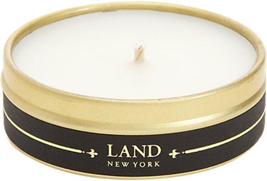 Off White Travel By Land Pine Needle Scented Candle In Can 1.35 Oz Made In Usa Single Wick Image 2