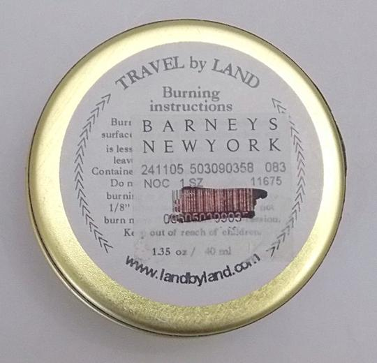 Off White Travel By Land Pine Needle Scented Candle In Can 1.35 Oz Made In Usa Single Wick Image 3