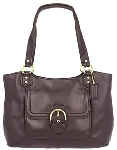 Coach Classy Simple Leather Shoulder Bag