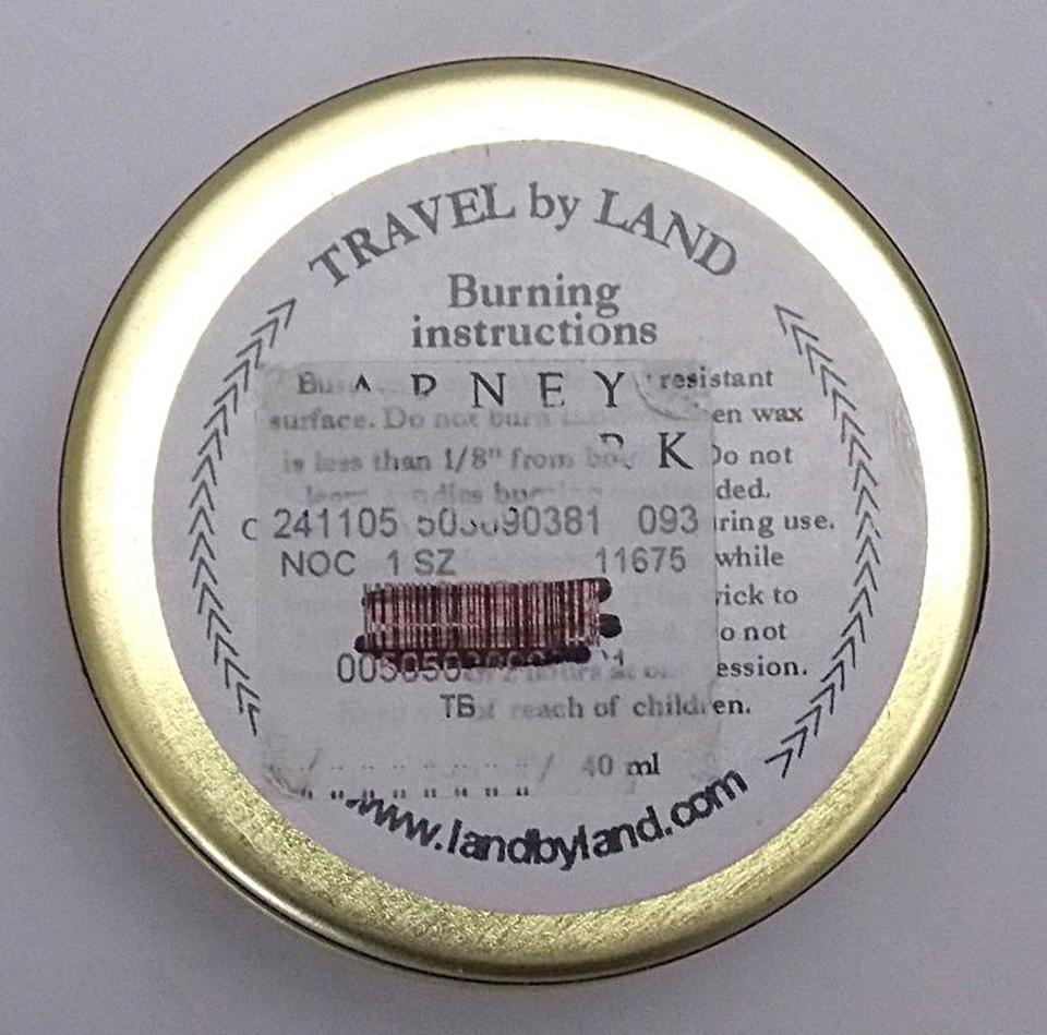 Off White Travel By Land Jasmine Scented Candle In Can 1 35 Oz Made Usa Singl