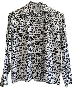 Chanel Jacket Top Black & white