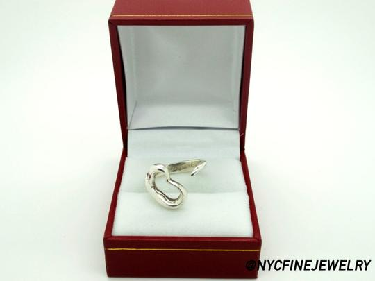 Tiffany & Co. Tiffany Co. Elsa Peretti Sterling Silver Open Heart Ring, Size 5 Image 1