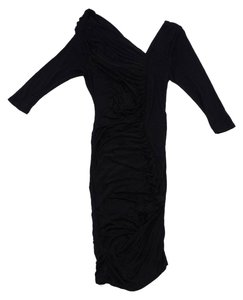 Catherine Malandrino short dress Black 3/4 Sleeve Gathered on Tradesy