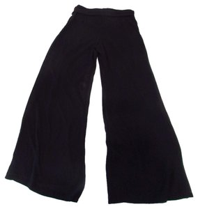 Kay Celine Trousers Belted Wide Leg Pants Black