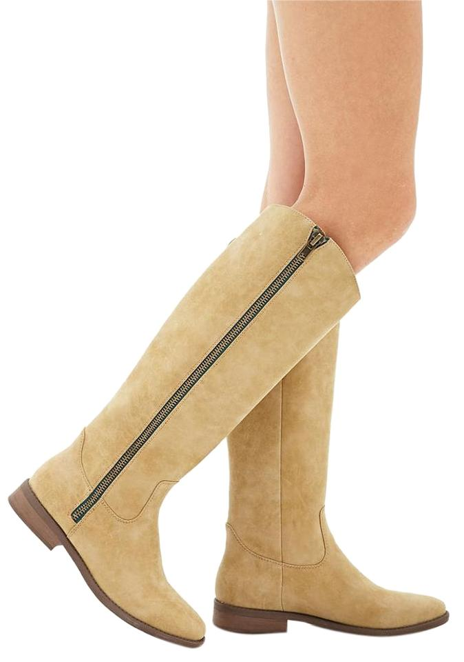 7306b1e5e3a Forever 21 Natural Faux Leather Knee-high Boots/Booties Size US 10 Regular  (M, B) 45% off retail