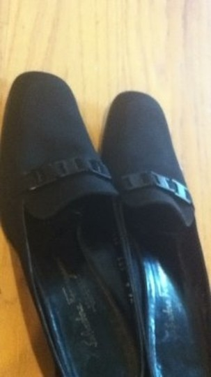 Salvatore Ferragamo Heel 9 Aa 2 A Slide On Loafers Boutique High End Great Condition Couture black Mules