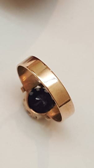 Other Antique 12K Rosey Gold Genuine 2.00cts Solitaire Blue Sapphire Ring Image 5