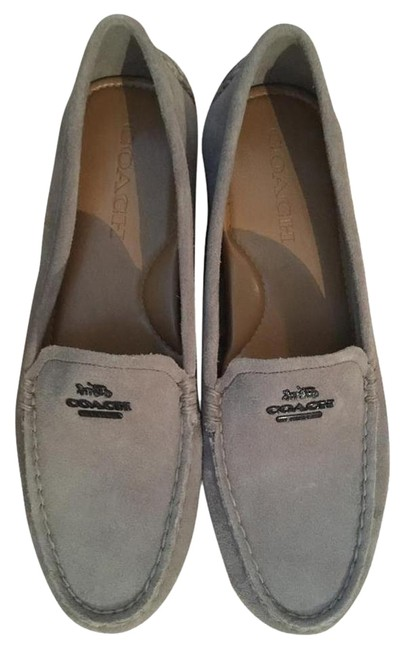 Item - Gray Mary Lock Up Suede Loafers Flats Size US 10 Regular (M, B)