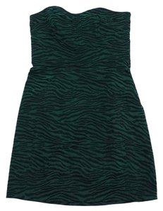 Diane von Furstenberg short dress Green Black Animal Print on Tradesy