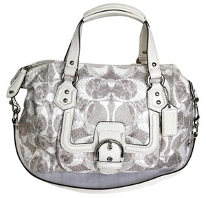 Coach Snake Python Grey Satchel in Dove Multi Color