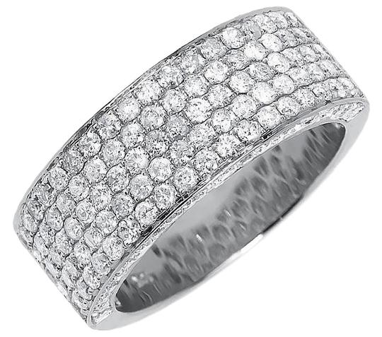 Preload https://img-static.tradesy.com/item/18743731/10k-white-gold-ladies-3d-round-pave-diamond-9mm-wedding-band-3-ct-ring-0-1-540-540.jpg