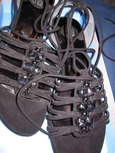 Stuart Weitzman Sandals Dc Daylight Sandals Dc Daylight Black Flats