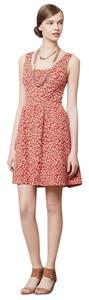 Anthropologie short dress Red Textured Caldera on Tradesy