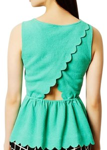 Anthropologie Top Aqua