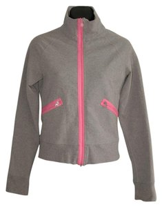 Lululemon gray pink zip up jacket funnel collar stretch