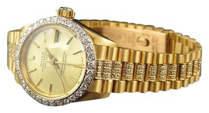 Rolex Ladies 18k Yellow Gold Rolex Datejust Presidential Diamond Watch