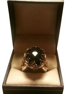 Jared Crown Set 24ct Onyx in Solid Sterling Silver Ring