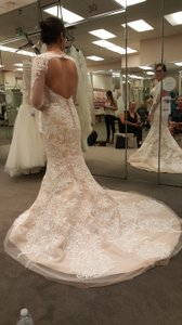Oleg Cassini Cwg670 Ivy/champ Wedding Dress