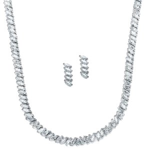Mariell Marquis Cubic Zirconia Necklace & Earrings Set