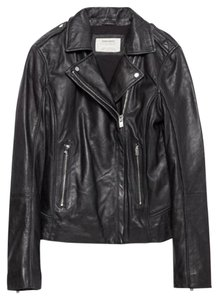 Zara Leather Biker Moto Leather Jacket