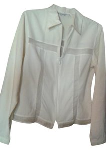 Anne Fontaine Sheer Top white
