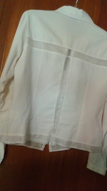 Anne Fontaine Sheer Top white Image 1
