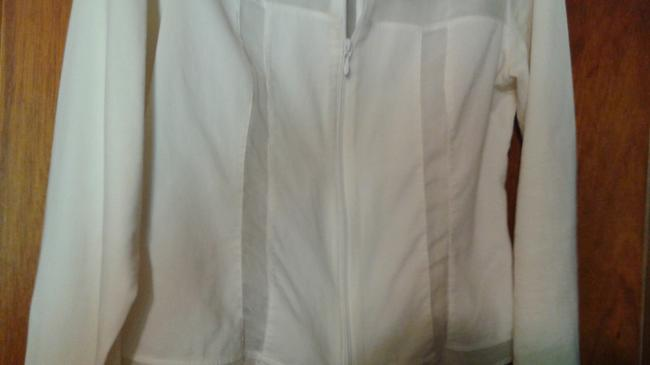Anne Fontaine Sheer Top white Image 4