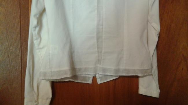 Anne Fontaine Sheer Top white Image 5