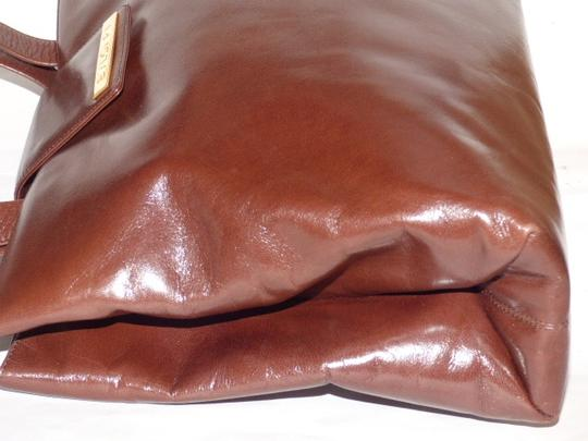 BVLGARI Made By Xl Tote/Satchel Gold Hardware Great Everyday Mint Condition Satchel in Brown Image 1