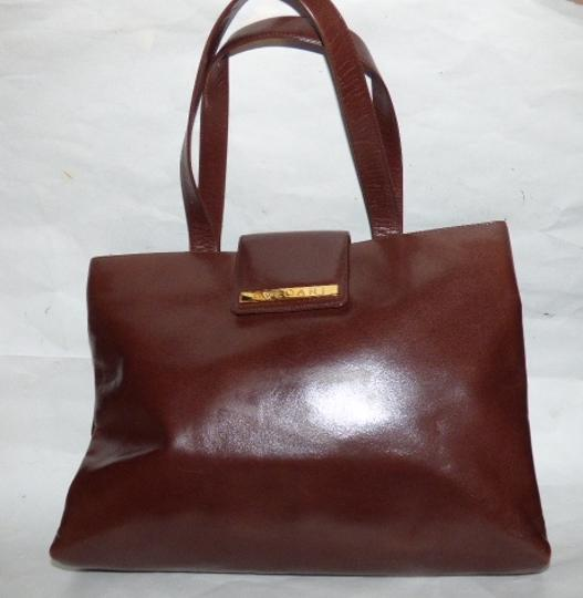 BVLGARI Made By Xl Tote/Satchel Gold Hardware Great Everyday Mint Condition Satchel in Brown Image 10