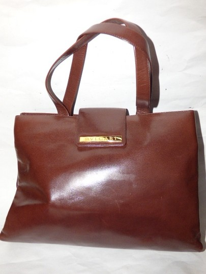 BVLGARI Made By Xl Tote/Satchel Gold Hardware Great Everyday Mint Condition Satchel in Brown Image 3