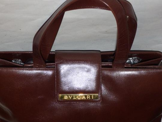 BVLGARI Made By Xl Tote/Satchel Gold Hardware Great Everyday Mint Condition Satchel in Brown Image 4